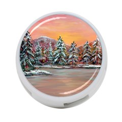 Jane s Winter Sunset   by Ave Hurley of ArtRevu ~ 4-Port USB Hub (One Side)