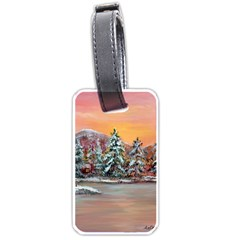 Jane s Winter Sunset   by Ave Hurley of ArtRevu ~ Luggage Tag (two sides)