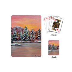 jane s Winter Sunset   By Ave Hurley Of Artrevu   Playing Cards (mini)