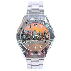 Jane s Winter Sunset   by Ave Hurley of ArtRevu ~ Stainless Steel Analogue Watch