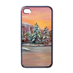 jane s Winter Sunset   By Ave Hurley Of Artrevu   Apple Iphone 4 Case (black)