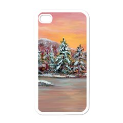 Jane s Winter Sunset   by Ave Hurley of ArtRevu ~ Apple iPhone 4 Case (White)