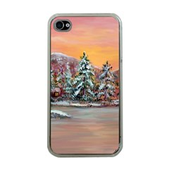 jane s Winter Sunset   By Ave Hurley Of Artrevu   Apple Iphone 4 Case (clear)