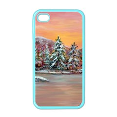 jane s Winter Sunset   By Ave Hurley Of Artrevu   Apple Iphone 4 Case (color)