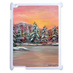 Jane s Winter Sunset   by Ave Hurley of ArtRevu ~ Apple iPad 2 Case (White)