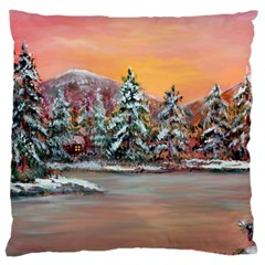 Jane s Winter Sunset   by Ave Hurley of ArtRevu ~ Large Cushion Case (One Side)