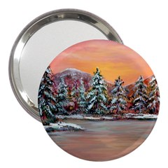 Jane s Winter Sunset   by Ave Hurley of ArtRevu ~ 3  Handbag Mirror