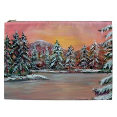 Jane s Winter Sunset   by Ave Hurley of ArtRevu ~ Cosmetic Bag (XXL)