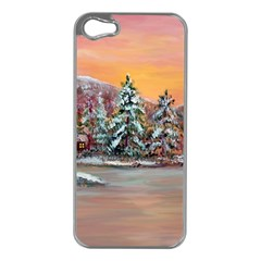 Jane s Winter Sunset   by Ave Hurley of ArtRevu ~ Apple iPhone 5 Case (Silver)