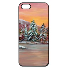 jane s Winter Sunset   By Ave Hurley Of Artrevu   Apple Iphone 5 Seamless Case (black)