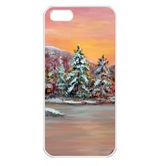 Jane s Winter Sunset   by Ave Hurley of ArtRevu ~ Apple iPhone 5 Seamless Case (White)