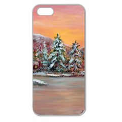 jane s Winter Sunset   By Ave Hurley Of Artrevu   Apple Seamless Iphone 5 Case (clear)