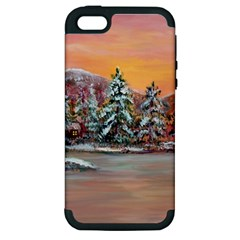 Jane s Winter Sunset   by Ave Hurley of ArtRevu ~ Apple iPhone 5 Hardshell Case (PC+Silicone)