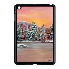 Jane s Winter Sunset   by Ave Hurley of ArtRevu ~ Apple iPad Mini Case (Black)