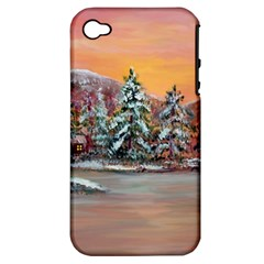 Jane s Winter Sunset   by Ave Hurley of ArtRevu ~ Apple iPhone 4/4S Hardshell Case (PC+Silicone)