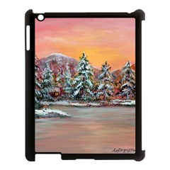 Jane s Winter Sunset   by Ave Hurley of ArtRevu ~ Apple iPad 3/4 Case (Black)