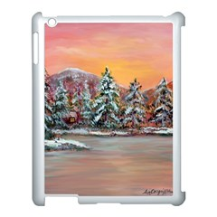 Jane s Winter Sunset   by Ave Hurley of ArtRevu ~ Apple iPad 3/4 Case (White)