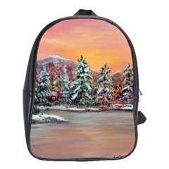 Jane s Winter Sunset   by Ave Hurley of ArtRevu ~ School Bag (XL)