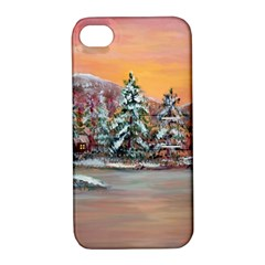 Jane s Winter Sunset   by Ave Hurley of ArtRevu ~ Apple iPhone 4/4S Hardshell Case with Stand