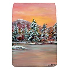 Jane s Winter Sunset   by Ave Hurley of ArtRevu ~ Removable Flap Cover (L)