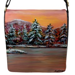 jane s Winter Sunset   By Ave Hurley Of Artrevu   Removable Flap Cover (s)