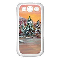Jane s Winter Sunset   by Ave Hurley of ArtRevu ~ Samsung Galaxy S3 Back Case (White)