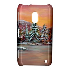 Jane s Winter Sunset   by Ave Hurley of ArtRevu ~ Nokia Lumia 620 Hardshell Case
