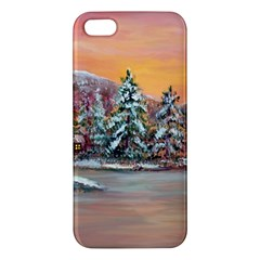 Jane s Winter Sunset   by Ave Hurley of ArtRevu ~ iPhone 5S/ SE Premium Hardshell Case