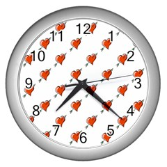 Hearts Wall Clock (Silver)