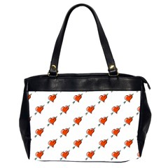Hearts Oversize Office Handbag (Two Sides)