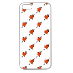 Hearts Apple Seamless iPhone 5 Case (Clear)