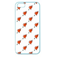 Hearts Apple Seamless iPhone 5 Case (Color)