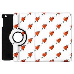 Hearts Apple iPad Mini Flip 360 Case