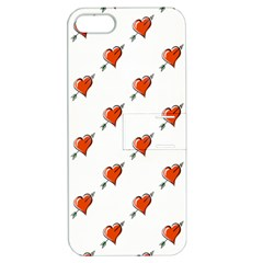 Hearts Apple iPhone 5 Hardshell Case with Stand