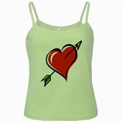 Heart Green Spaghetti Tank