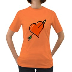 Heart Womens' T-shirt (Colored)