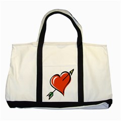 Heart Two Toned Tote Bag