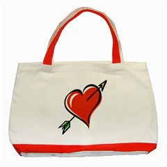 Heart Classic Tote Bag (Red)