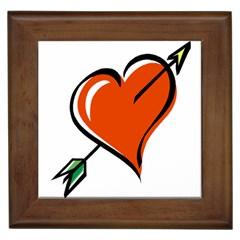 Heart Framed Ceramic Tile
