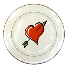 Heart Porcelain Display Plate