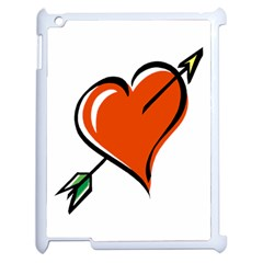Heart Apple iPad 2 Case (White)