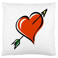 Heart Large Cushion Case (Two Sided)