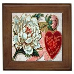Victorian Valentine Card Framed Ceramic Tile