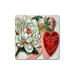 Victorian Valentine Card Magnet (Square)