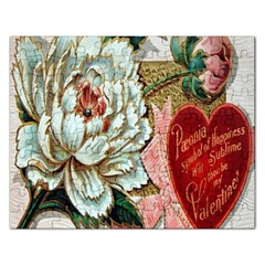 Victorian Valentine Card Jigsaw Puzzle (Rectangle)