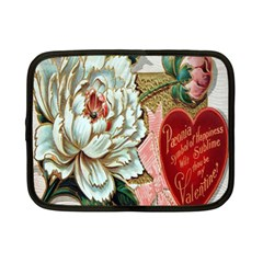Victorian Valentine Card Netbook Sleeve (Small)