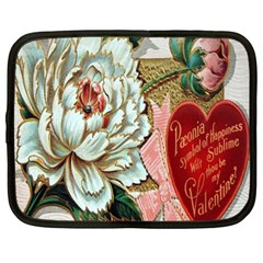 Victorian Valentine Card Netbook Sleeve (Large)
