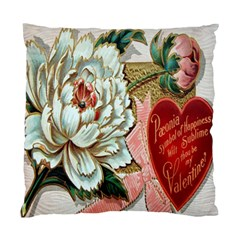 Victorian Valentine Card Cushion Case (Two Sided)
