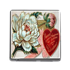 Victorian Valentine Card Memory Card Reader with Storage (Square)