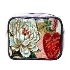 Victorian Valentine Card Mini Travel Toiletry Bag (One Side)